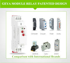 <b>GEYA</b> GPV8 63D Din Rail Automatic Over Under Voltage Protector ...