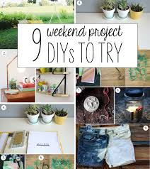 9 Weekend Project DIYs | Weekend projects, Fun diy crafts, Diy projects  apartment