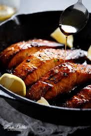 Browned Butter Honey Garlic Salmon - Cafe Delites
