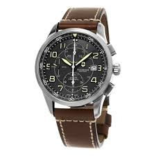 peugeot watches luxury watches cheap swiss army men s 241597 air boss black dial brown leather strap chronograph swiss