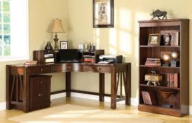home office corner. Sweet Inspiration Corner Desks For Home Office Impressive Design Furniture Varnished Wooden Desk U