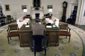 the oval office. President Ronald Reagan Sitting At The Resolute Desk In Oval Office 1987. T