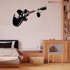 Guitar Music Wall Sticker For Living ...