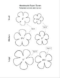 Free Paper Flower Templates Printable Printable Rose Flower Template Download Them Or Print