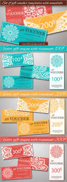 17 best ideas about gift voucher design gift set of gift voucher templates