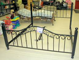 wrought iron king bed. Endorsed Iron King Size Bed Frame Wrought The Salvation Army Thrift S On