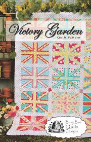Victory Garden Union Jack Quilt Pattern - Busy Bee Quilt Designs ... & Victory Garden Union Jack Quilt Pattern - Busy Bee Quilt Designs - Sewing  Pattern - British Flags Adamdwight.com