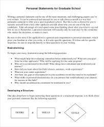 11 graduate personal statement