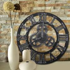 12 16 23 large garden 3d wall clock