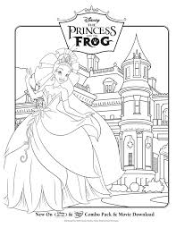 Freebie Alert Princess The Frog Coloring Sheets