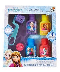 frozen bathtub finger paint set ideas