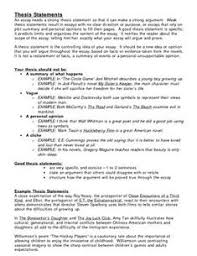 Strong Thesis Statements Great Examples For Those Students Who