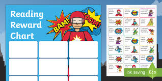 Reading Sticker Chart Ks1 Superhero Themed Reading Sticker Reward Charts Y1