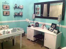 blue office decor. my tiffany blue diy office decor