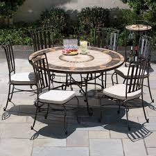 60 compass marble mosaic dining
