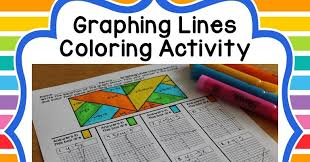 math dyal graphing lines coloring activity mathdollardeals