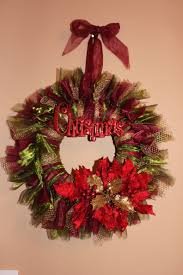 Christmas Wreath Tulle and Voile