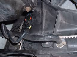 how to check cooling fan pt cruiser forum wiring harness connection i m talking about is accessed from the bottom of the car where you can see it in this picture the red slide on the top