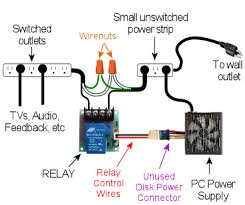 pinscape controller build guide when the pc is on the power supply sends power to the disk connectors this will provide 12v to the relay which will turn the relay on