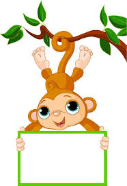 birthday cartoon monkey clipart