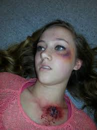 bullet wound and black eye makeup s