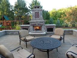 outdoor fireplace located in northville michigan
