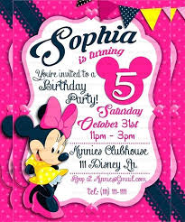 Free Minnie Mouse Birthday Invitations Personalized Pink Mouse Birthday Invitation Minnie Template