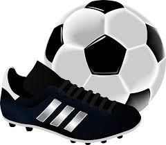 フリーイラスト サッカーボールとスパイク パブリックドメインq著作