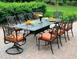 8 person outdoor dining set grand by 8 seat luxury cast aluminum patio furniture dining set 8 person outdoor dining set