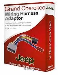 jeep grand cherokee radio stereo wiring harness adapter lead loom