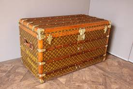 Steamer Trunk Furniture Steamer Trunk With Stenciled Monogram From Louis Vuitton 1930s