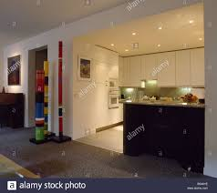 large recessed lighting. Recessed Lighting In Modern White Kitchen Off Openplan Living Room Loft Conversion Large