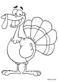 Small Picture Turkey Coloring Pages for Kids Pitara Kids Network