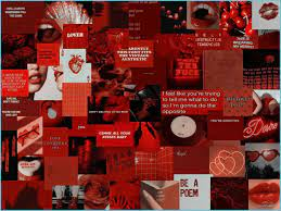 Red Aesthetic Collage Wallpapers - Top ...