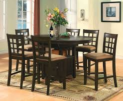 tall dining chairs counter: dark wood round counter height kitchen table and  chirs we need your phone number