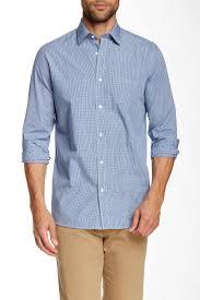 Jimmy Taverniti Slim Fit Check Print Long Sleeve Shirt Nordstrom Rack