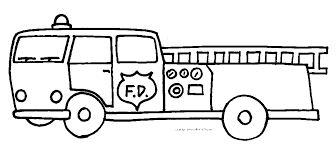 Small Picture Easy Fire Truck Coloring Pages Fire Truck Coloring Book Pages Fire