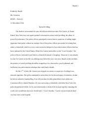 erwc animal rights essay huynh kimberly huynh ms swanson csu  3 pages racial profiling final