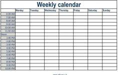 Weekly Calendar With Time Slots Template Calendar With Times Tachris Aganiemiec Com Weekly Time Slots Excel