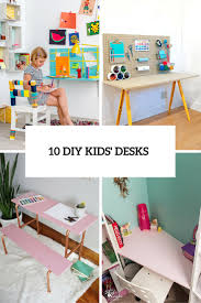 10 diy kids desks for art craft and studying
