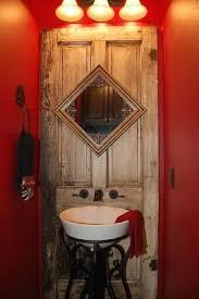 vanity old door with mirror love this for my country house