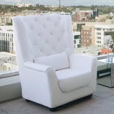 white tufted chair. White High Back Tufted Chair H