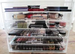 celar acrylic makeup storage unit the glamourqueen
