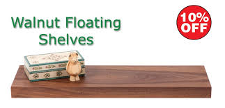 BQ Floating Shelves Fascinating Walnut Floating Shelves Bq Home Design Ideas