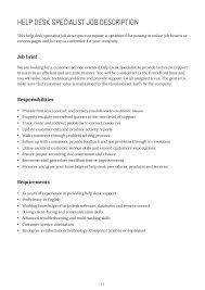 computer help desk job description how to write job descriptions help desk duties computer tech support