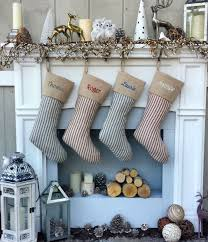 gray christmas stockings. Beautiful Stockings Red Ticking Striped Country Christmas Stockings  Blue Vintage Look  Stocking And Gray A