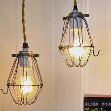 pendant lighting vintage. vintage factory cage pendant light eclectic lighting i
