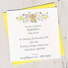 Pack Of Personalised Baby Shower Invitations By Eggbert Daisy