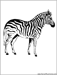 Small Picture Coloring Pages Free Printable Zebra Coloring Pages For Kids Zebra