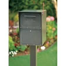 mailbox with mail indicator. Modren Mail Architectural Mailboxes Oasis PostMount Or ColumnMount Locking Mailbox In  Bronze With Outgoing Mail Indicator5100Z  The Home Depot And With Indicator 0